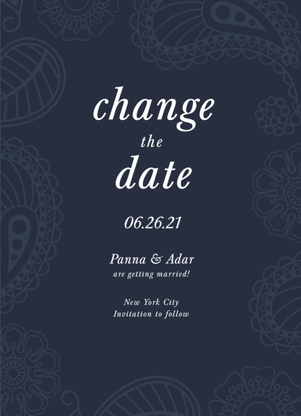 Blue Paisley Change The Date