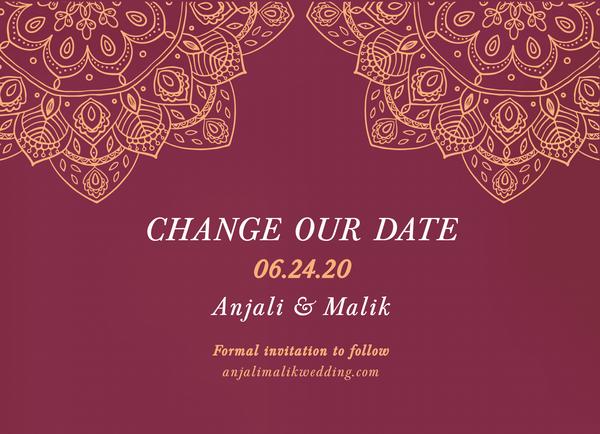 Burgundy Henna Change The Date