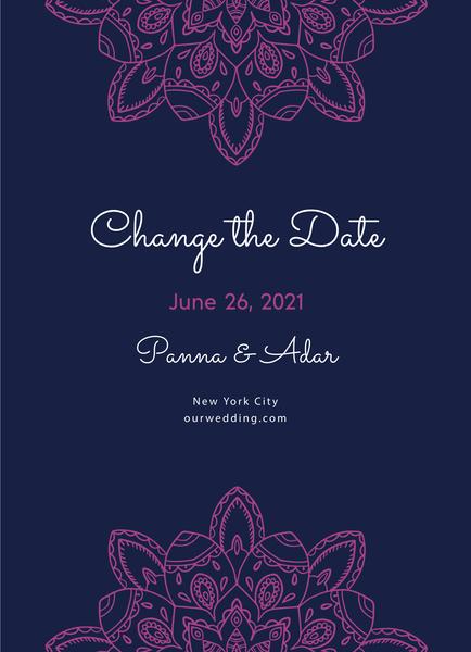 Fuchsia Mandala Change The Date