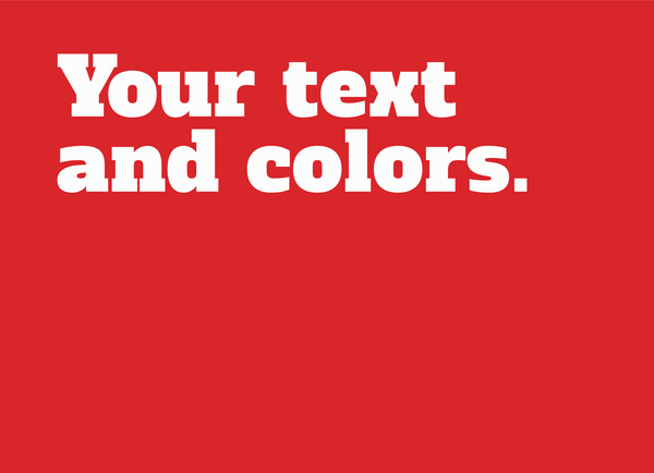 Your Text And Colors Serif