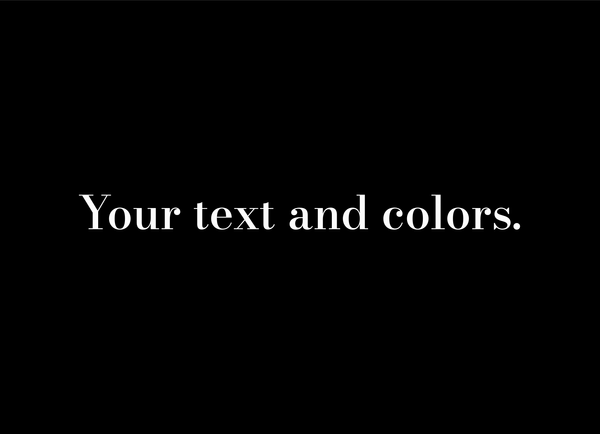 Basic Text And Colors