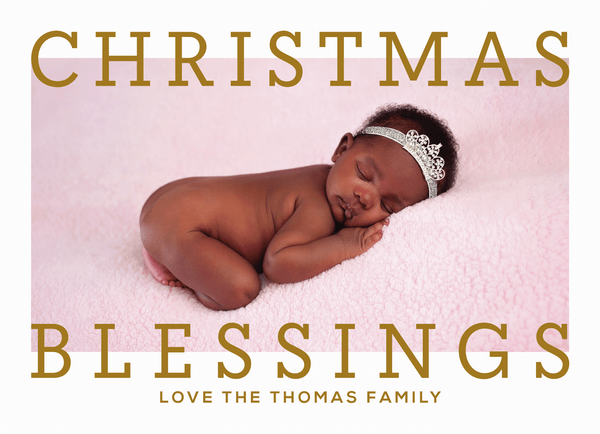 Christmas Blessings Frame