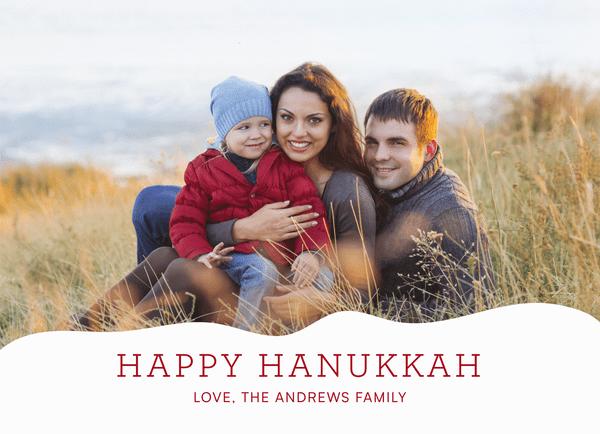 Snowy Holiday Hills Hanukkah
