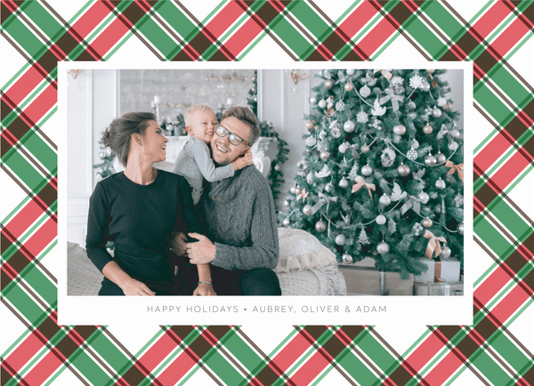 Red Green Plaid Holiday