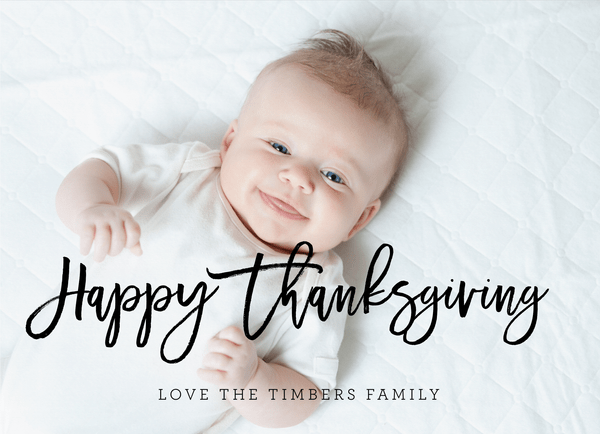 Thanksgiving Brushy Script