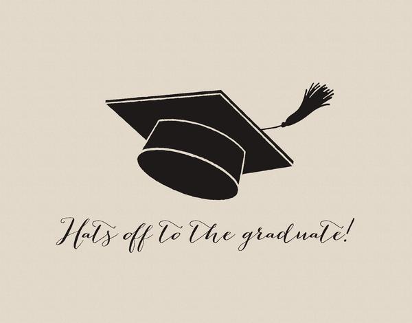 Hats off Graduation Card