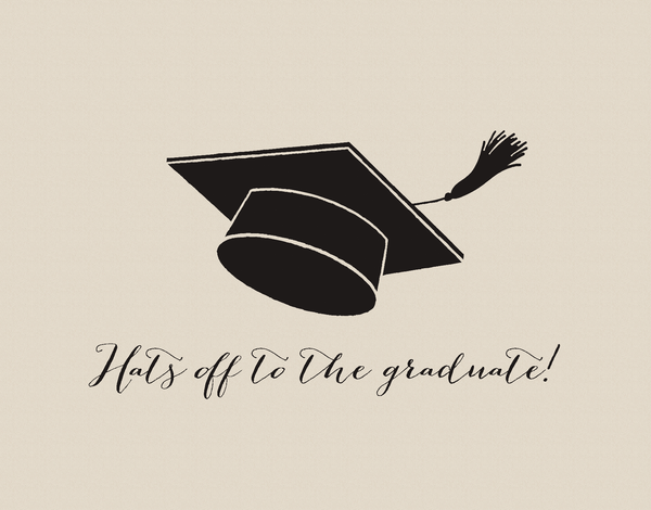 Hats off Graduation Card