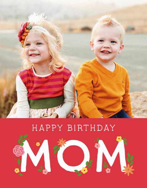 Floral Mom Birthday