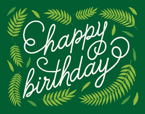 Fern Happy Birthday Card