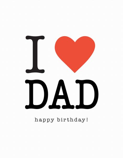 I Heart Dad Birthday