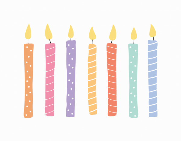 Patterned Candles Birthday Card