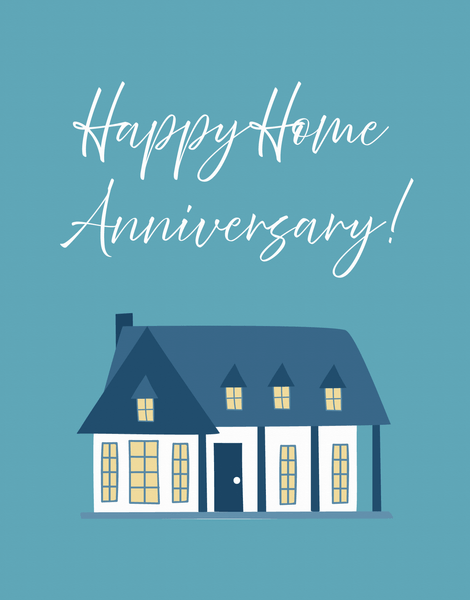 Blue Home Anniversary