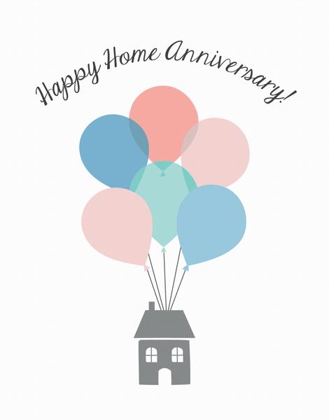 Home Anniversary Balloons