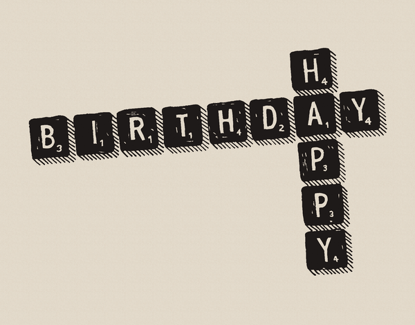 Scrabble Birthday Card