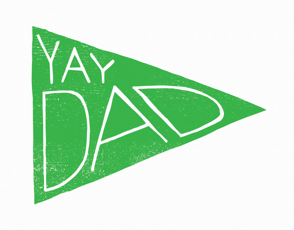 Yay Dad Flag Father's Day Card