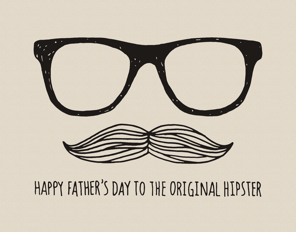 Original Hipster Father's Day Card