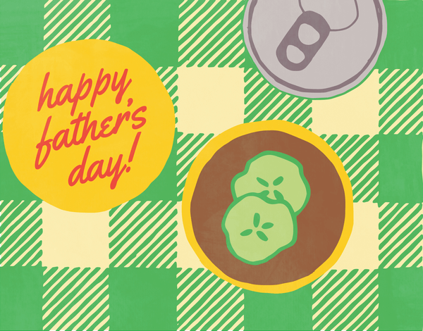 Picnic Burger Father's Day Card