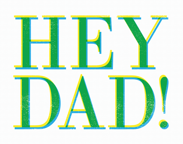 Stamp Hey Dad Card