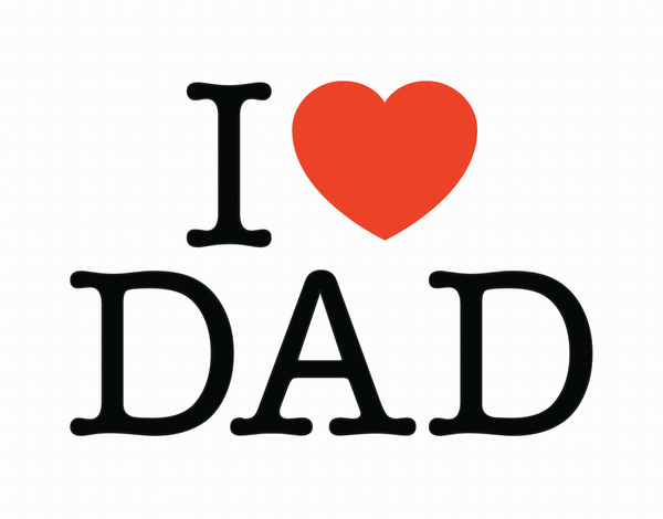 Minimal Heart Father's Day Card