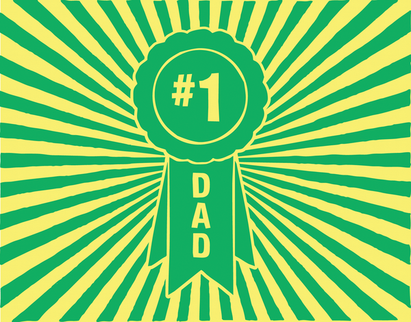Bright Number One Dad Card