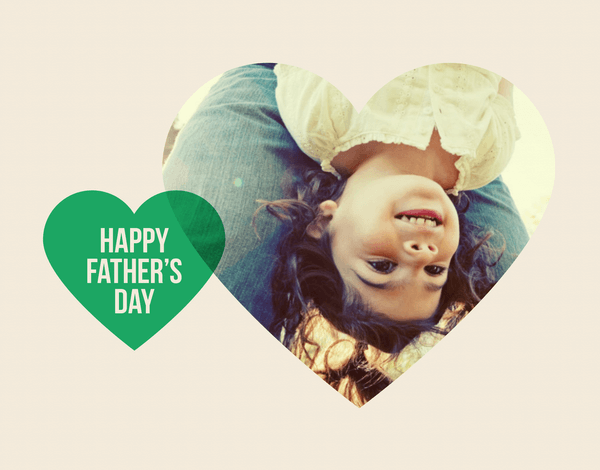 Father's Day Hearts Photo Card