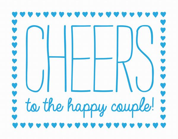 Happy Couple Hearts Congrats Card