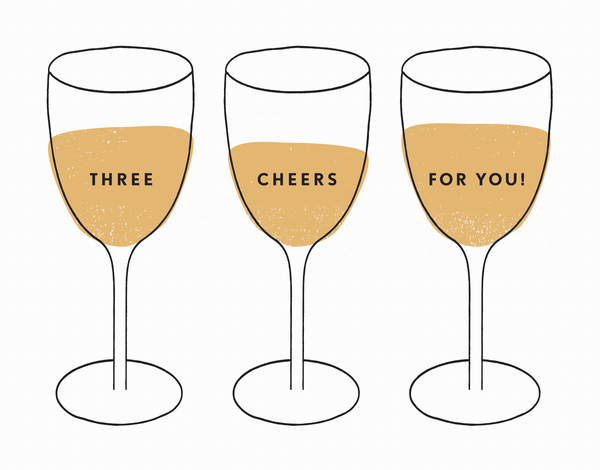 Trendy Champagne Congrats Card