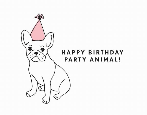 Party Animal Birthday Card