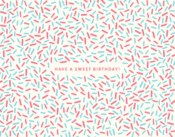 Sweet Sprinkles Birthday Card