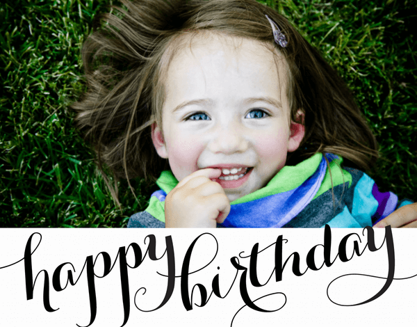Personalized Script Birthday Card
