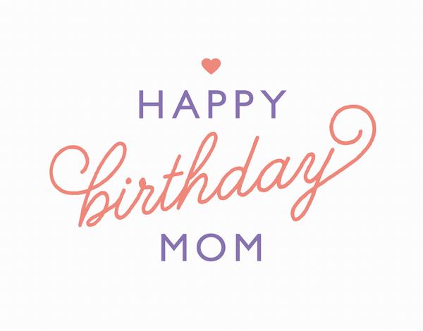 Heart Birthday Card for Mom