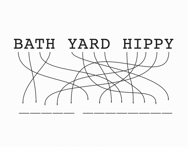Bath Yard Hippy Card