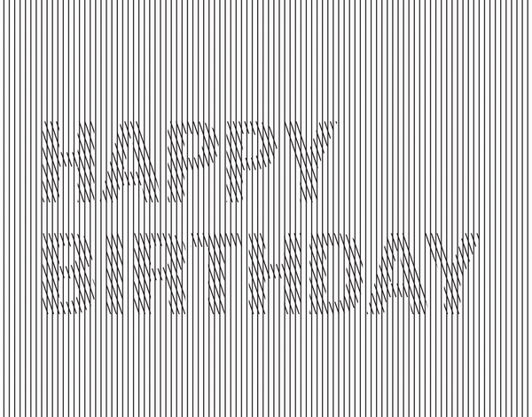 Crosshatch Happy Birthday Card