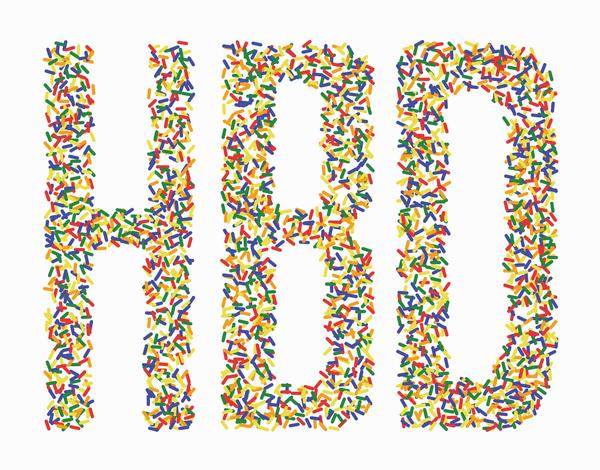Sprinkles HBD Birthday Card
