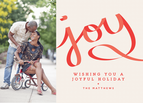 Joyful Ribbon Holiday Card