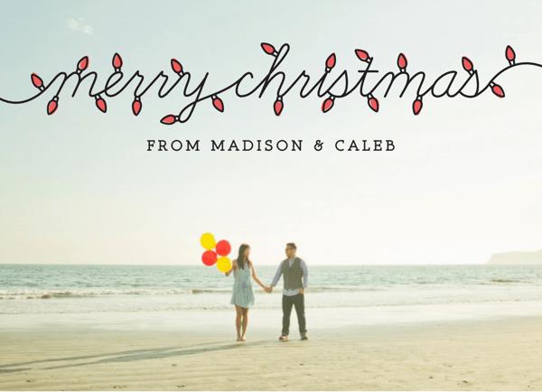 X Mas Lights Photo Holiday Card