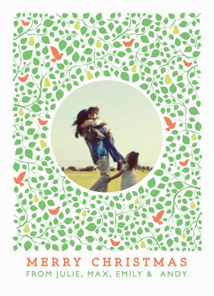 Pear Tree Custom Christmas Card