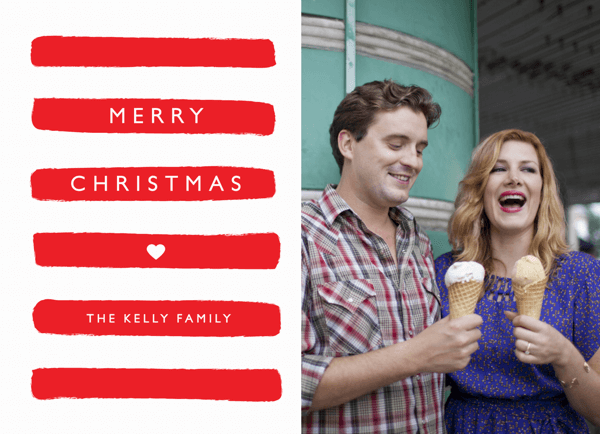 Warm Stripes Holiday Card