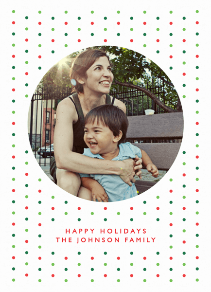 Festive Polka Dots Holiday Card