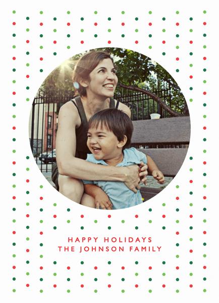 Festive Polka Dots Holiday Card