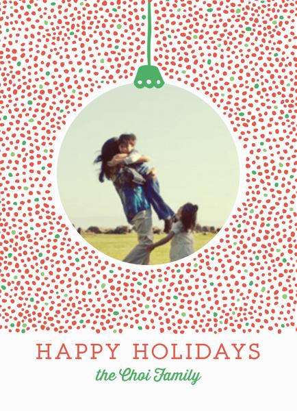 Dotty Holiday Ornament Photo Card