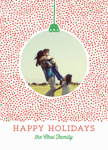 Dotty Holiday Ornament Photo Card