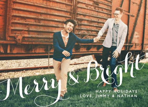 Classic Merry and Bright Photo Card