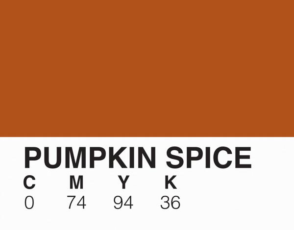 Pumpkin Spice Pantone Card