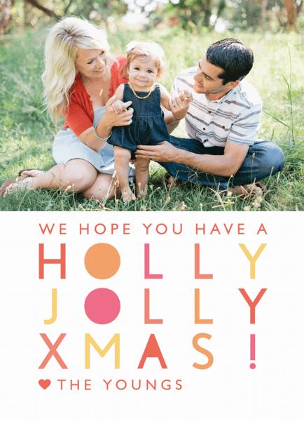Modern Holly Jolly Christmas Card