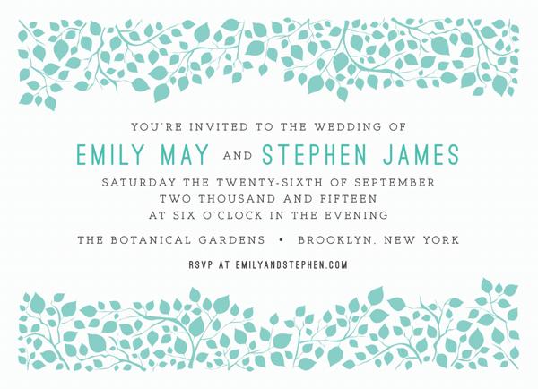 Pretty Branches Wedding Invitation