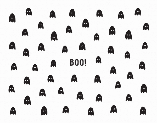 Ghost Boo! Halloween Card