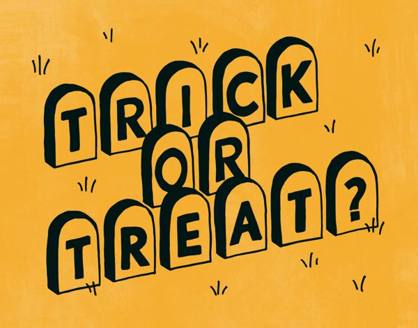 Trick or Treat Halloween Card
