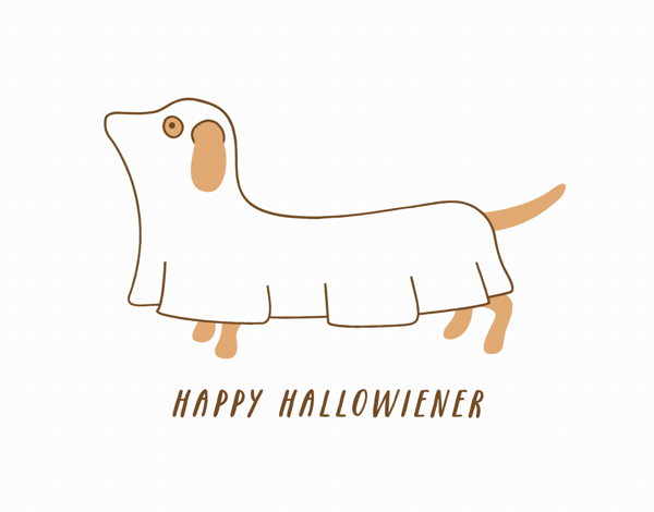 Quirky dog Halloween Card