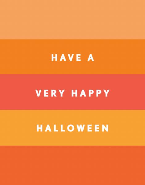 Halloween Stripes Halloween Card